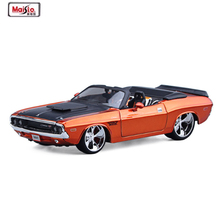 New 1:24 1970 Dodge Challenger R/T Orange Diecast Model Fast Furious Character Car Without Light Sound Car Kids Birthday Toys(China)