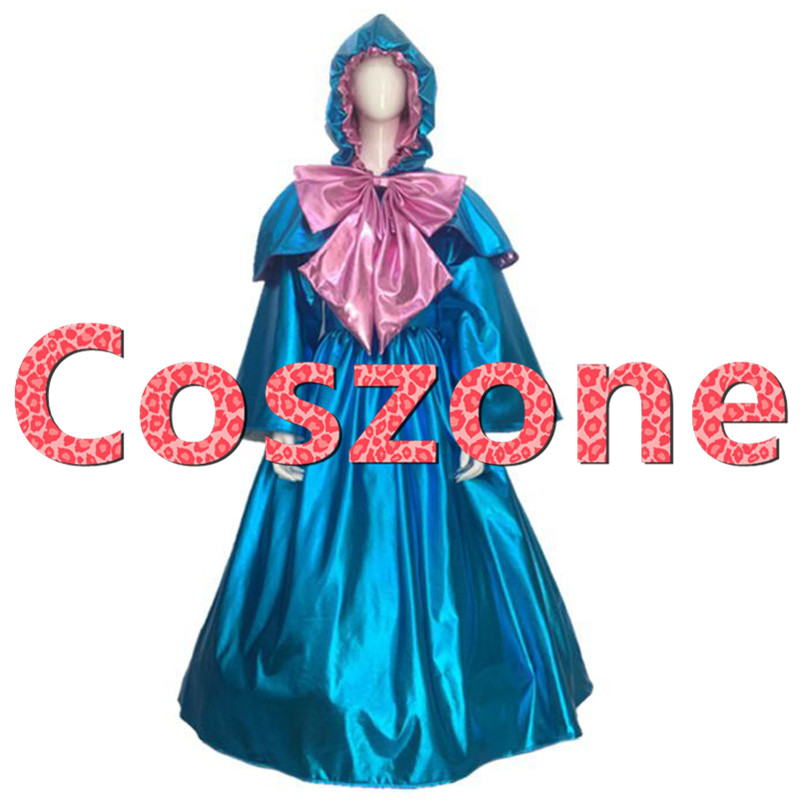 Cinderella Fairy Godmother Dress Cosplay Costume Halloween Carnival Party Costume Custom