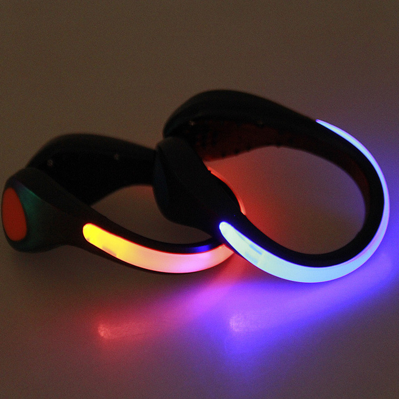 No-slip Safety Running LED Shoes Clip Luminous Light Sports Reflective Gear Pink