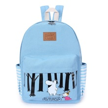 Green backpack women canvas printing school bags for teenager girl lake blue backpacks kids schoolbag WM415Z mochila mujer bolso