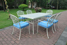 7-piece cast aluminum patio furniture Outdoor furniture transport by sea