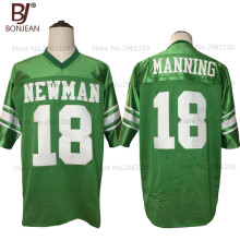 2017 New Cheap Eli Manning 18 Isidore Newman High School American Football Jersey Green Throwback Stitched Sewn Mens Shorts