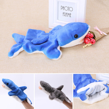 New Soft 1Pc Hand Finger Puppet Toys Cartoon Animal Plush Shark Doll Gift For Baby Kids(China)