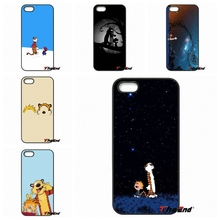 For Motorola Moto E E2 E3 G G2 G3 G4 PLUS X2 Play Style Blackberry Q10 Z10 Funny Cartoon calvin and hobbes movie Printed Cases