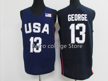 #13 Paul George #7 Kyle Lowry Team usa Basketball Jersey Embroidery Stitched bule white Retro throwback College jerseys(China)