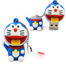 Free Shipping Duo A Dream 4G 8G 16G 32G usb drive thumb drive cartoon cat USB flash drive usb 2.0 cute pendrives usb creativo(China)