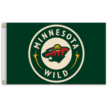3x5 ft Minnesota Wild National Hockey League NHL Free shipping high quality banner banner 100D 120G(China)