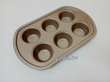 High quality 6-well nonstick carbon steel cupcake mold cupcake stand cake molding for DIY baking kitchen accessories(China)