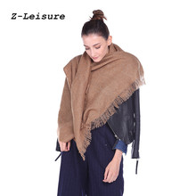 2017 High Quality Ladies Winter Scarves Solid Color Shawls And Wraps Large Foulards Femme Oversize WSF017(China)