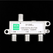 3 Way Digital splitter Signal Aerial Coaxial F Splitter Cable TV Switch 5-1200MHz Drop shipping