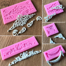 Cake Border Decor Lace Silicone Cake Mold Retro  Decorative Chocolate Candy Jelly Mould Flower Vine Pattern Baking Tool