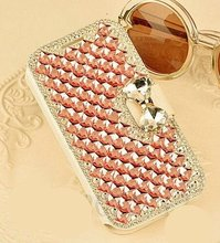 Bling Crystal Rhinestone Leather Diamond Rhinestone Luxury Flip Wallet Card Skin Case Cover For SAMSUNGS3 S4 S5 S6 S7 S8 N5 4 32(China)