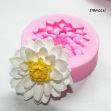 1 Pcs/set Flower rose lotus Silicone 3D Mold Cookware  Non-Stick Cake Decor Fondant Mold Sugar Craft soap chocolate Mold