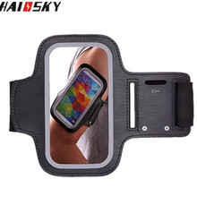 Haissky 4.7'' Universal Gym Sports Running Armband Arm Band Phone Pouch Case Cover Holder for iPhone 6 6s 4 4S 5 5S 5C SE