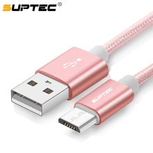 SUPTEC Micro USB Cable, Nylon Fast Charging Data Sync Cable Samsung Galaxy S7 S6 S5 S4 Huawei Xiaomi Sony Phone Charger Cord