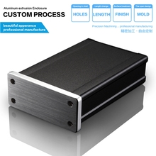 High Quality Customized Aluminum Enclosure for amplifier  Power Communication 66.2*27.5*100mm GPS tracking enclosure