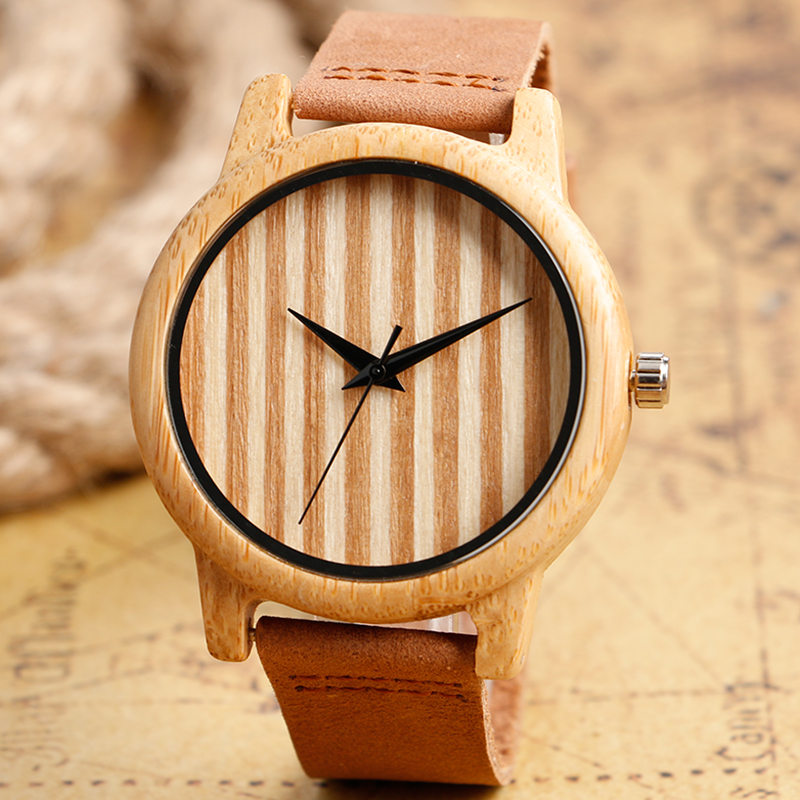 2017 Hot Selling Elegant Simple Wood Watch Casual Black Pointer Bamboo Wristwatch Men Women Quartz-watches Relojes<br><br>Aliexpress