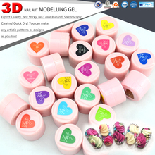 #40261 CANNI New Nail Art Design Sculptured Gel 24 Colors 3d Modeling Gel CANNI Painting UV/LED 3d Gel(China)