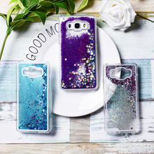 New Fashion Liquid Glitter Meteor Sand Sequins Colorful Dynamic Transparent Hard Mobile Phone Cases For Samsung Galaxy J5 2016(China)