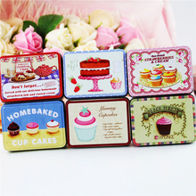 Metal Macaron Cookies Box Small Tin Box Food Container For Tea Candy Mac Lipstick Organizer For Girl Gift Box 6 Piece/Lot