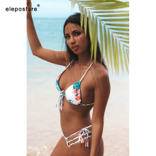 Buy 2019 Sexy Bandage Bikini Women Swimsuit Push Swimwear Brazilian Bikini Set Print Bathing Suits Beach Swim Wear Swimming Suit