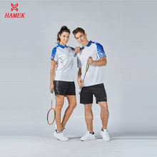 2017 new arrival men women table tennis sets polo t shirt + short badmiton training suits comfortable outdoor short sleeve kits(China)