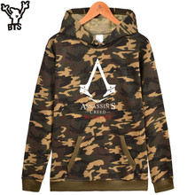 BTS Classic RPG Game Fashion Camouflage Hooded Winter Hoodies Men Casual Assassins Creed Altair Sweatshirt Men Funny Clothes(China)