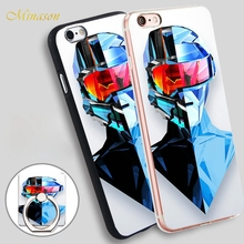 Minason art theme so man Mobile Phone Shell Soft TPU Silicone Case Cover for iPhone X 8 5 SE 5S 6 6S 7 Plus(China)