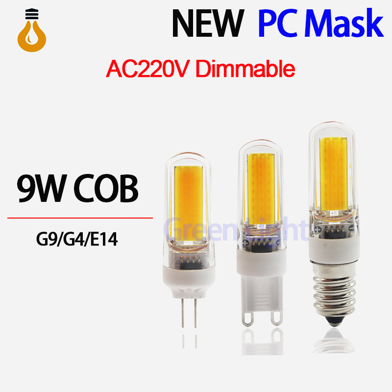 2016 new LED G4 Lamp AC/DC12V AC220V G4 G9 E14 LED 3W 6W 9W COB SMD LED Lighting Lights replace Halogen Spotlight Chandelier(China)