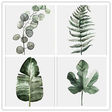 Retro Green Leaf modular pictures Art Prints Poster Wall Picture Canvas Painting No Framed for Living Room Home Decor YP