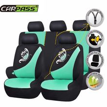 Car-pass 2017 Spring Butterfly Style New Arrival Car Seat Covers Universal Set Front Rear Seat Covers  Auto Seat Protector