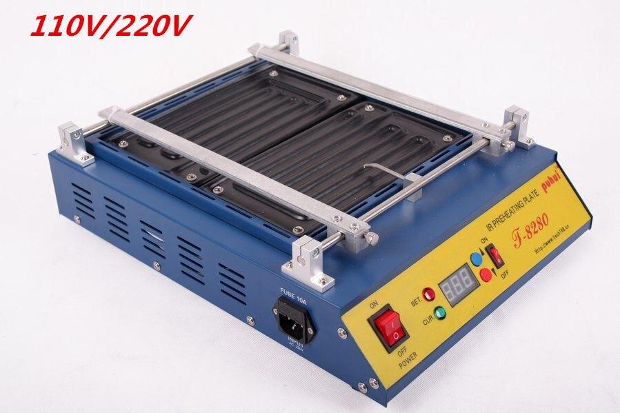 1PCS   IR Solder Station 110V /220V Puhui T8280 T-8280 T 8280 PCB Preheater SMD Rework Station<br><br>Aliexpress