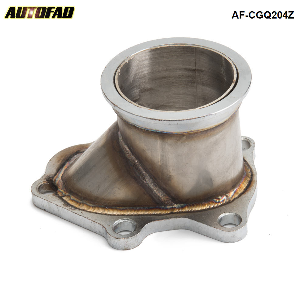 "AUTOFAB - TD04 5 Bolt turbine housing downpipe discharge to a 3.00"" V-band For Subaru WRX Impreza AF-CGQ204Z"