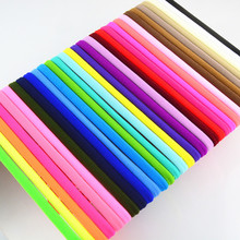 500 pcs/lot, Wholesale Soft Stretchy Nylon Headbands, Nylon Elastic Headbands Bulk Skinny Headband(China)