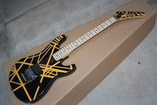 2016 new + factory + Eddie Van Halen Signature Kramer Guitar EVH guitar black and yellow strip EVH Kramer guitar free shipping