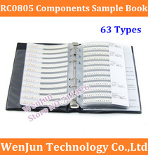 High Quality RC0805 0805 Series YAGEO Resistor 63 Types 0805 Series muRata Capacitor 17 Types Electronic Components Sample Book(China)