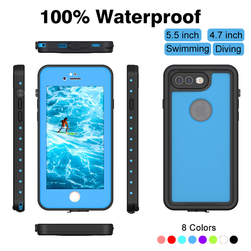 0.For iphone 7 8 Plus Waterproof case