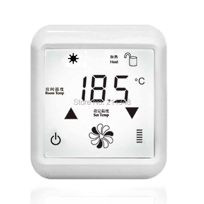 20A Underfloor heating thermostat  TFAEY-379 230VAC touch screen 0-50oC 50Hz 220V AC+/-10%<br>