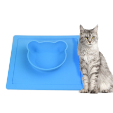 Silicone Pet Bowl Anti Spill Stereoscopic Pet placemat Cute Cat Dog Feeding Food Water Bowls Dog Products Wholesale