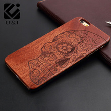 For  iPhone 6s Case Fashion luxury perfect 100% real Wood Back Cover Case wooden Nostalgic retro tape pattern