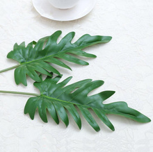 1Pcs large Artificial Palm leaf green plants flores Home wedding DIY decoration cheap fake Flowers arrangement plant Leaves