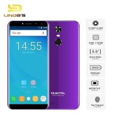 Best Oukitel C8 4G LTE Android 7.0 Smartphone MTK6737 Quad Core 1280 x 640 Mobile Phones 3000mAh Fingerprint Unlocked Cell Phone(China)