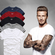 Top Quality Men's Short Sleeve 100% Cotton T-shirt Men 2017 Summer Brand Shirts Solid Color Casual Male Tops & Tees