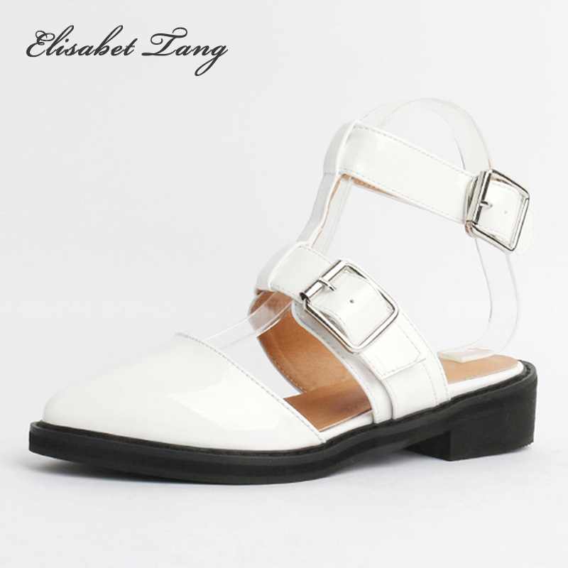 Womens Pumps Leather Fashion Pointed Toe Buckle Strap Thick High Heels Shoes Woman Slingbacks Black White Pumps Shoes<br>