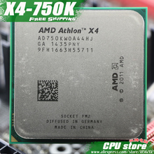 Free shipping AMD X4 750K Quad-Core FM2 3.4GHz 4MB 100W CPU processor pieces X4-750K (working 100%) ,there are, sell X4 760K(China)