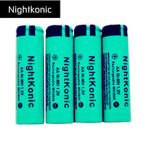 10 piece/lotc Nightkonic AA Rechargeable Battery AA NiMH 1.2V Ni-MH 2A Pre-charged Bateria Rechargeable Batteries