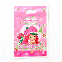 10PCS Strawberry Shortcake Gift bags Loot Bag Boy Girl Favorite Cartoon Theme Party festival&event Birthday Decoration Supplies(China)