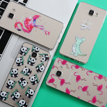 Flamingo Soft TPU Silicone For Samsung Galaxy S6 S5 S4 S3 S7 Edge S8 Plus J2 J3 J5 A3 A5 2016 2017 Case Core Grand Prime Note 4