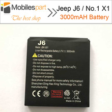 Jeep J6 Battery New High Quality Replacement 3000mAh Li-ion Battery for No.1 X1 Smartphone in Stock Free Shipping