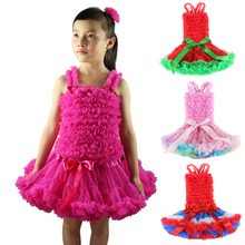 Wennikids Fluffy Chiffon Ruffles Pettiskirt Set Pure Lace Petticoat Pettitop Baby Girl's Tutu Skirt Set Girl Dance Clothes Tutu